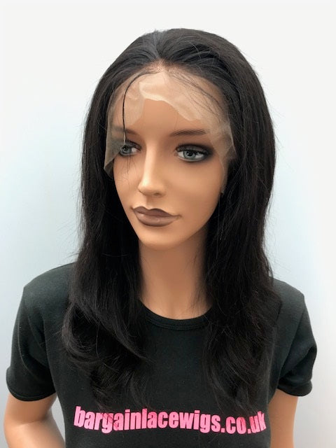 360 Anatomic Lace Front Wig 12 inches Natural Straight, Burmese Virgin Hair A-360BUVLF12