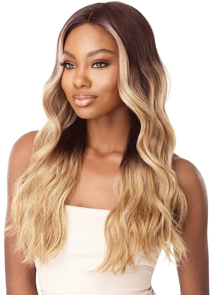 Outre Synthetic I Part Lace Front Wig STEVIE Colour DRFF4/CHAMPAGNE