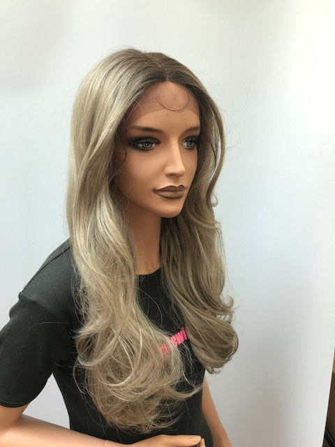 Janet Collection Synthetic Lace Front Wig DASHLY UNIT 2 Colour T4/ASH BLONDE