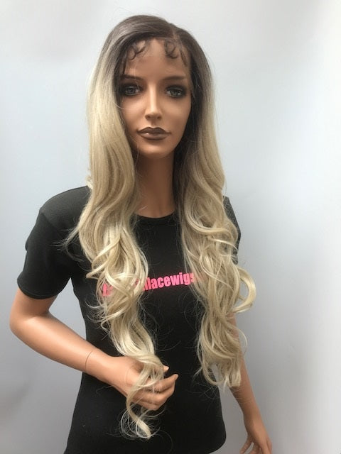 Bobbi Boss Synthetic 360 Swiss Lace Front Wig MBLF360 DINAH Colour TT6/56