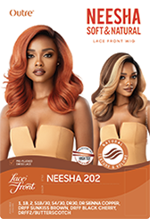 Outre Soft & Natural Synthetic Lace Front Wig NEESHA 202 Colour DRFF2/BUTTERSCOTCH