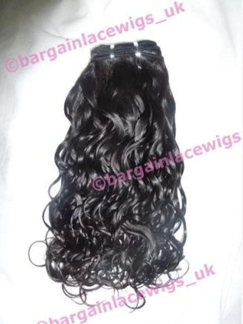 Curly Texture Hair Weft (for weaving) 12 inches long natural darkest brown Q-CRLWEFT12NDB