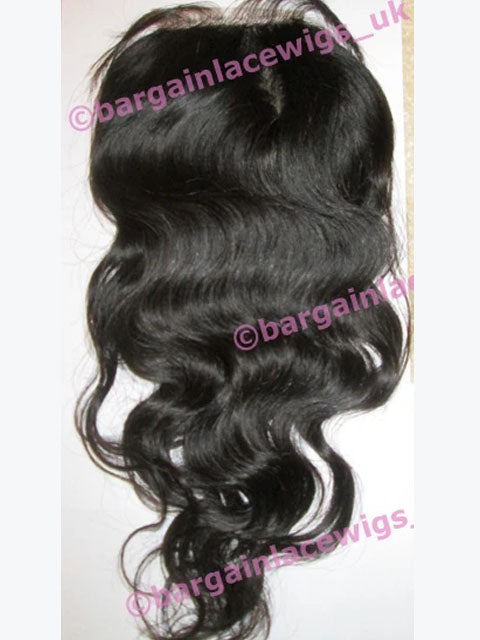 Silk-base Top Closure Brazilian Virgin Remy hair 16 inches long colour natural #2 Q-SKBVCLOSWV16