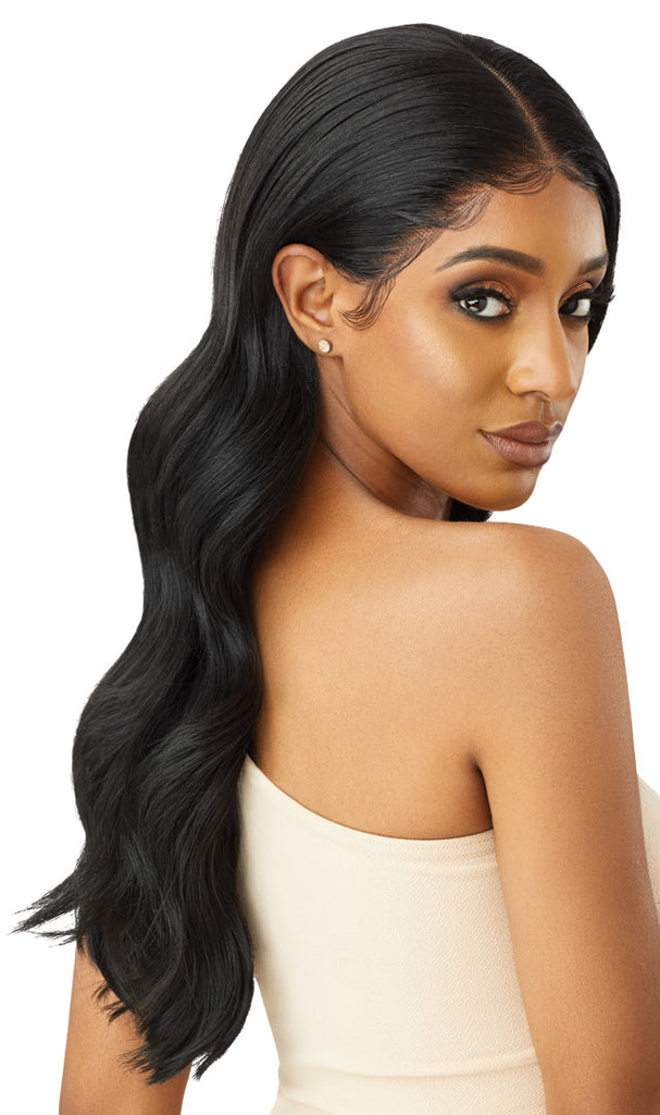 Outre Melted Hairline Synthetic Lace Front Wig NATALIA Colour 3DR Malibu Blonde