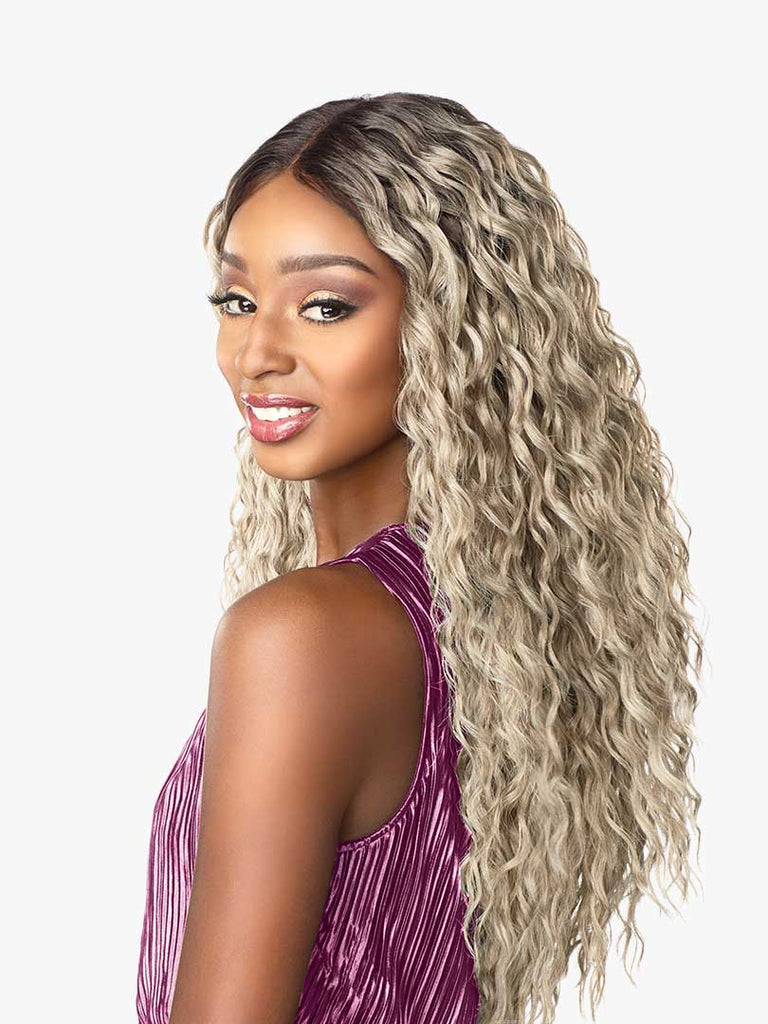 Janet Collection Synthetic Lace Front Wig DASHLY UNIT 9 Colour T4/ASH BLONDE