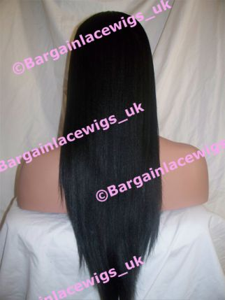 AA Relaxed Full Lace Wig 20 inches long colour #1b M-AA201B