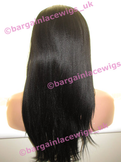 Lace Front Wig AA Relaxed Texture 16 inches long colour #1 C-AALF16ONE