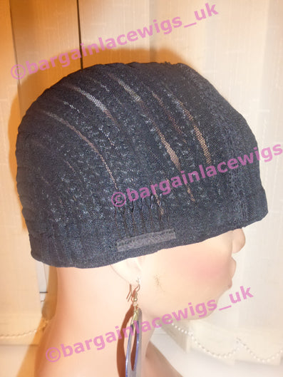 Cornrow Cap For Sew-In Weaves, Horseshoe Style, small cap size Q-COCAPHS1B-S