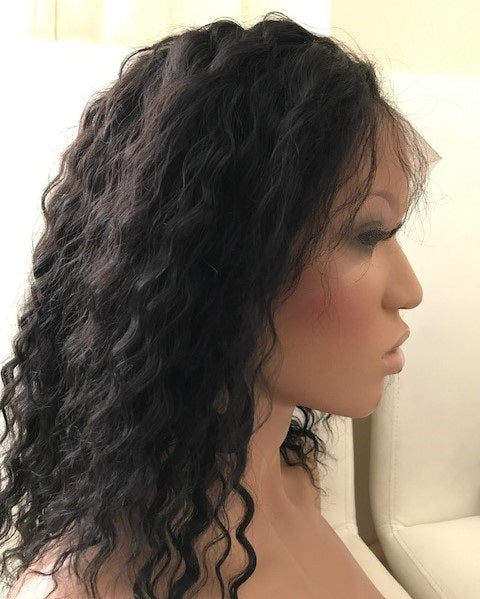 Deep Wave Full Lace Wig 10 inches colour #1 N-DW10ONE