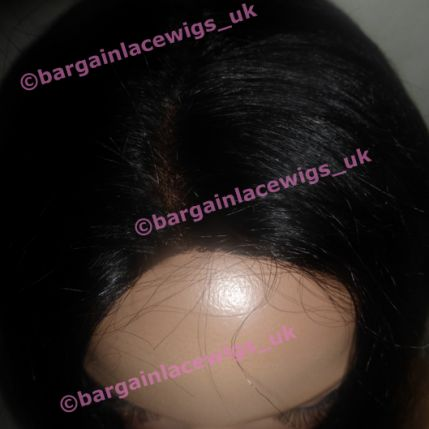 New Type Light Yaki Glueless Lace Wig 16 inches long colour #1b - NO NEED TO CUT LACE! DD-GLLY161B-NL