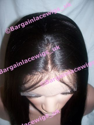 Lace Front Wig Light Yaki 18 inches long colour #1b B-LYLF181B