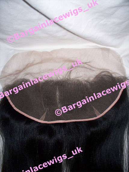 AA Relaxed Texture Lace Frontal 16 inches long colour #1 Q-AAFRO16ONE