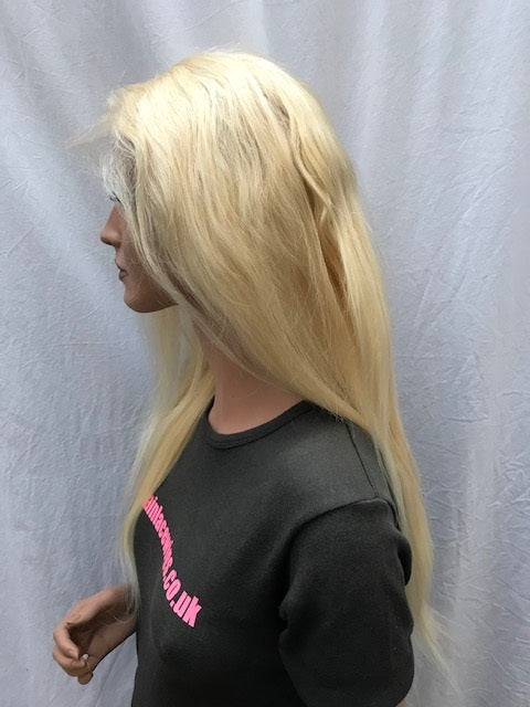 Lace Front Wig 18 inches colour #613, Chinese Virgin Remy B-NSLF18613
