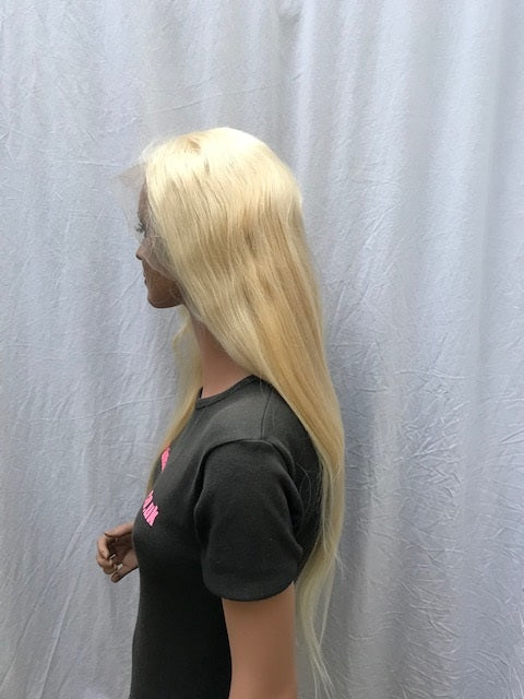 Lace Front Wig 24 inches colour #613, Chinese Virgin Remy A-NSLF24613