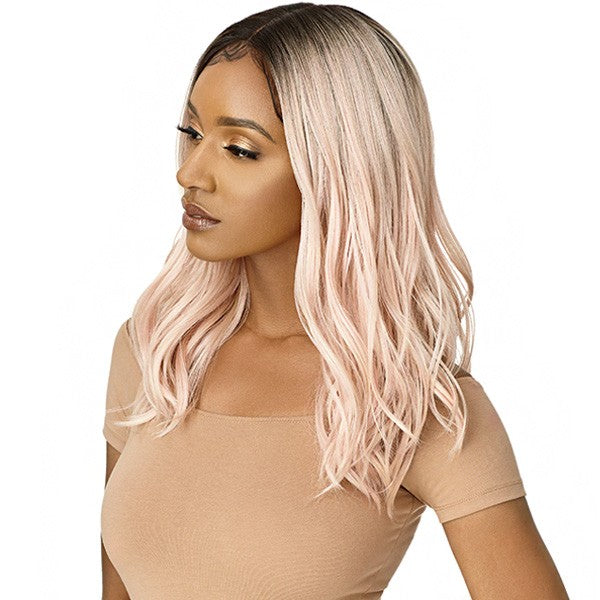 Outre Synthetic I Part Lace Front Wig RAMONA Colour DR2/ROSE GOLD