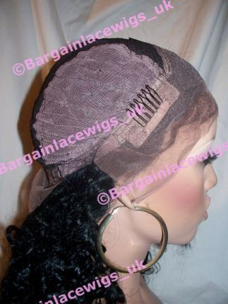 Lace Front Wig Rio Curl 18 inches long colour #1b C-RIOCLLF181B