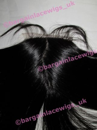 Silk-base Top Closure Brazilian Virgin Remy hair 18 inches long Q-SKBVCLOS181B