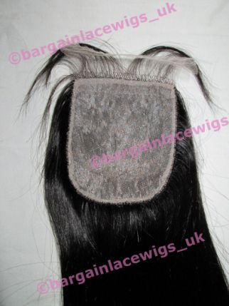 Top Closure Brazilian Virgin Remy hair 18 inches long natural colour #2 P-BVCLOS18TWO