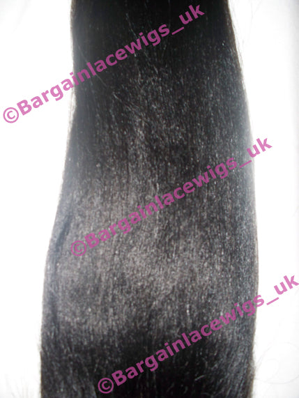 Silk-base Top Closure Yaki 16 inches long colour #1b P-SKYKCLOS161B