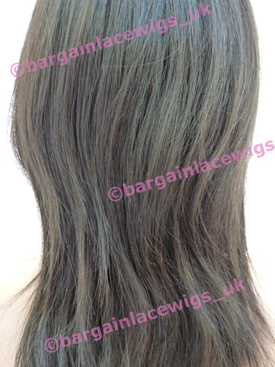 Natural Straight Glueless Lace Wig 12 inches long with 4x4 silk base, Malaysian Virgin Remy hair E-SKGLVM12