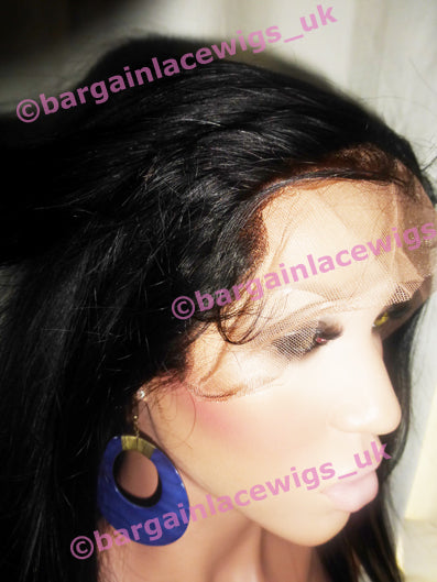 Natural Straight Lace Frontal 18 inches long natural colour #2 with 4x4 silk base P-SKNSFRO18