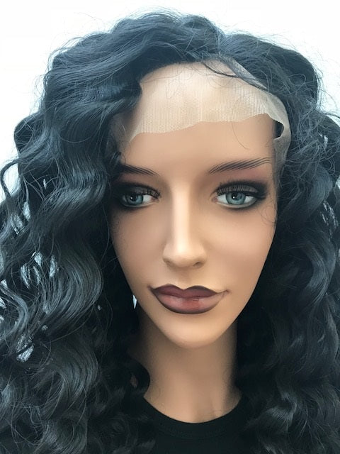 Synthetic Lace Front Wig Natural Curl 20 inches colour #1b R-SYNNC201B