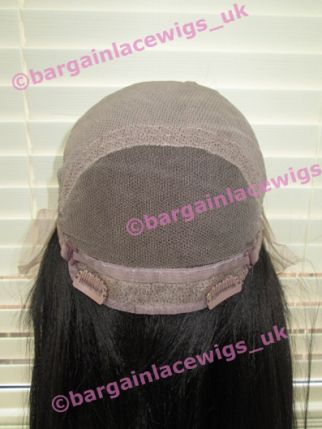 U-Part FULL LACE Wig AA Relaxed Texture 18 inches colour #1b O-UPTFLWAA181B