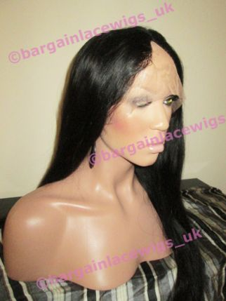 U-Part Wig Natural Straight 18 inches long colour #1b, middle parting O-UPTNS181B