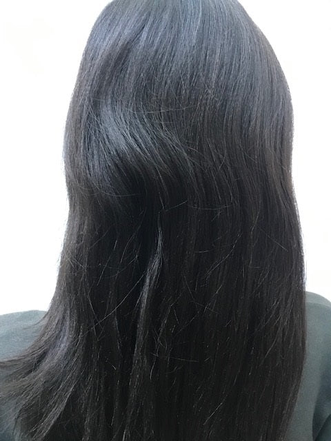 Lace Front Wig Yaki Texture 14 inches long colour #1b C-YKLF141B