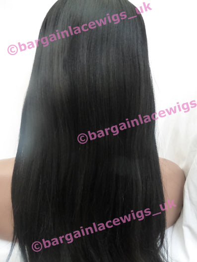Yaki Texture Lace Front Wig 22 inches colour #1b A-YKLF221B