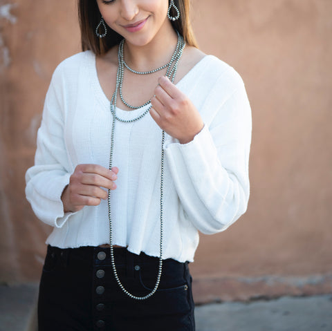 Navajo pearls necklace layering