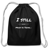 Cotton Drawstring Bag - black