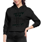 Dust Colored Women's Cropped Hoodie - deep heather