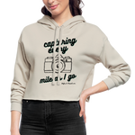 Dust Colored Women's Cropped Hoodie - dust