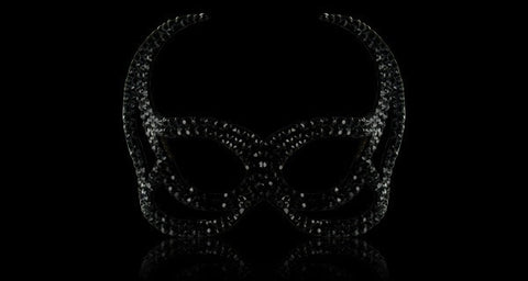 Swarovski Crystal Devil Mask