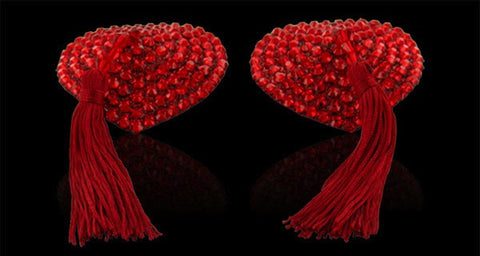 Swarovski Red Crystal Heart Tassels