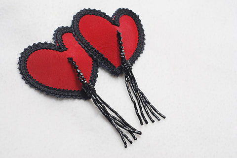 Red Heart Tassles