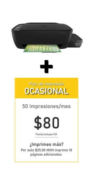 Multifuncional HP Ink Tank 315 + Plan OCASIONAL