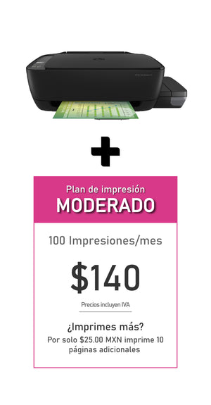 Multifuncional HP Ink Tank 315 + Plan MODERADO