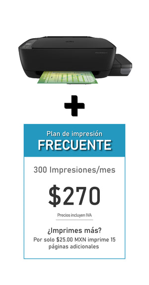 Multifuncional HP Ink Tank 315 + Plan FRECUENTE