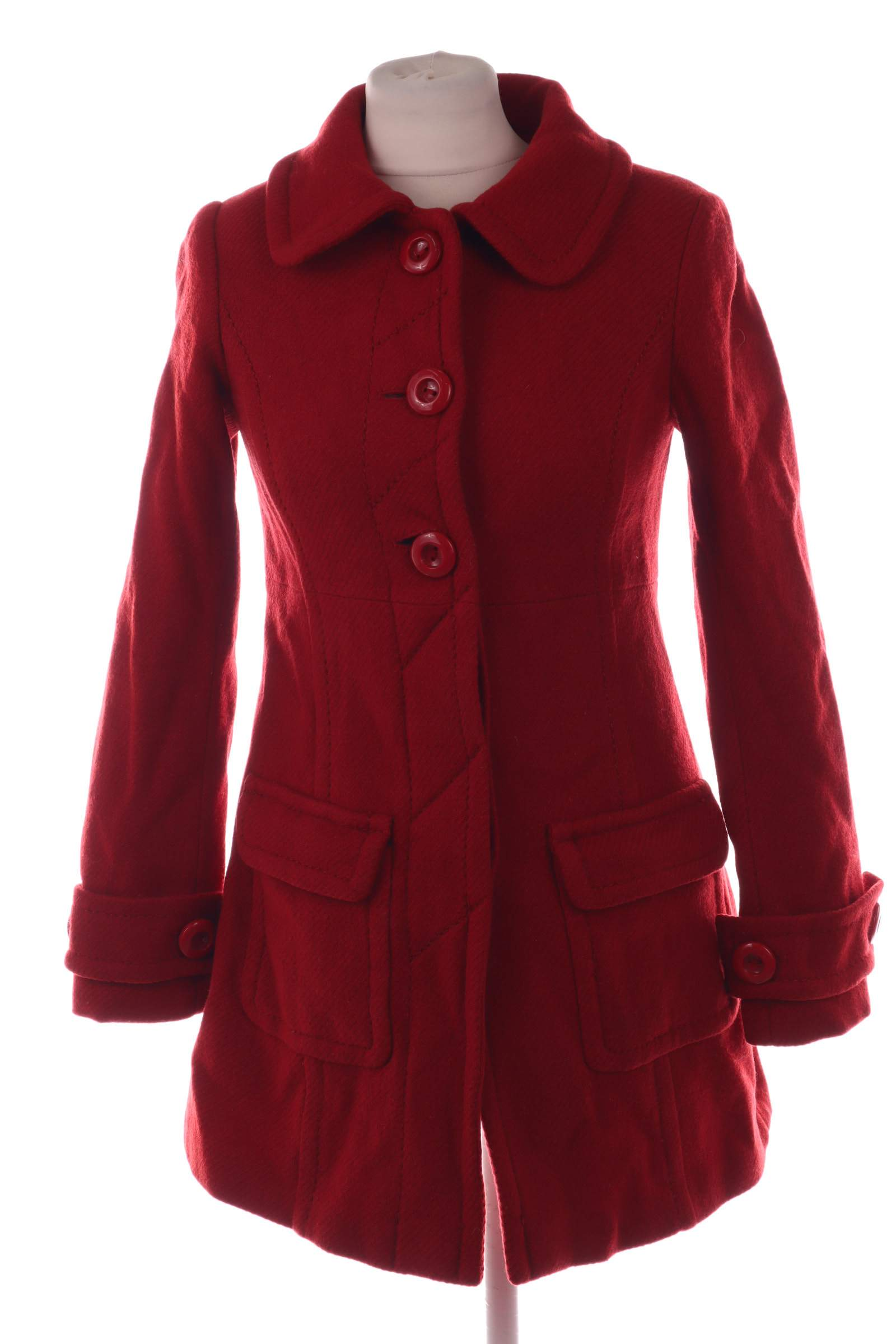 Divided Red Coat - upty.store