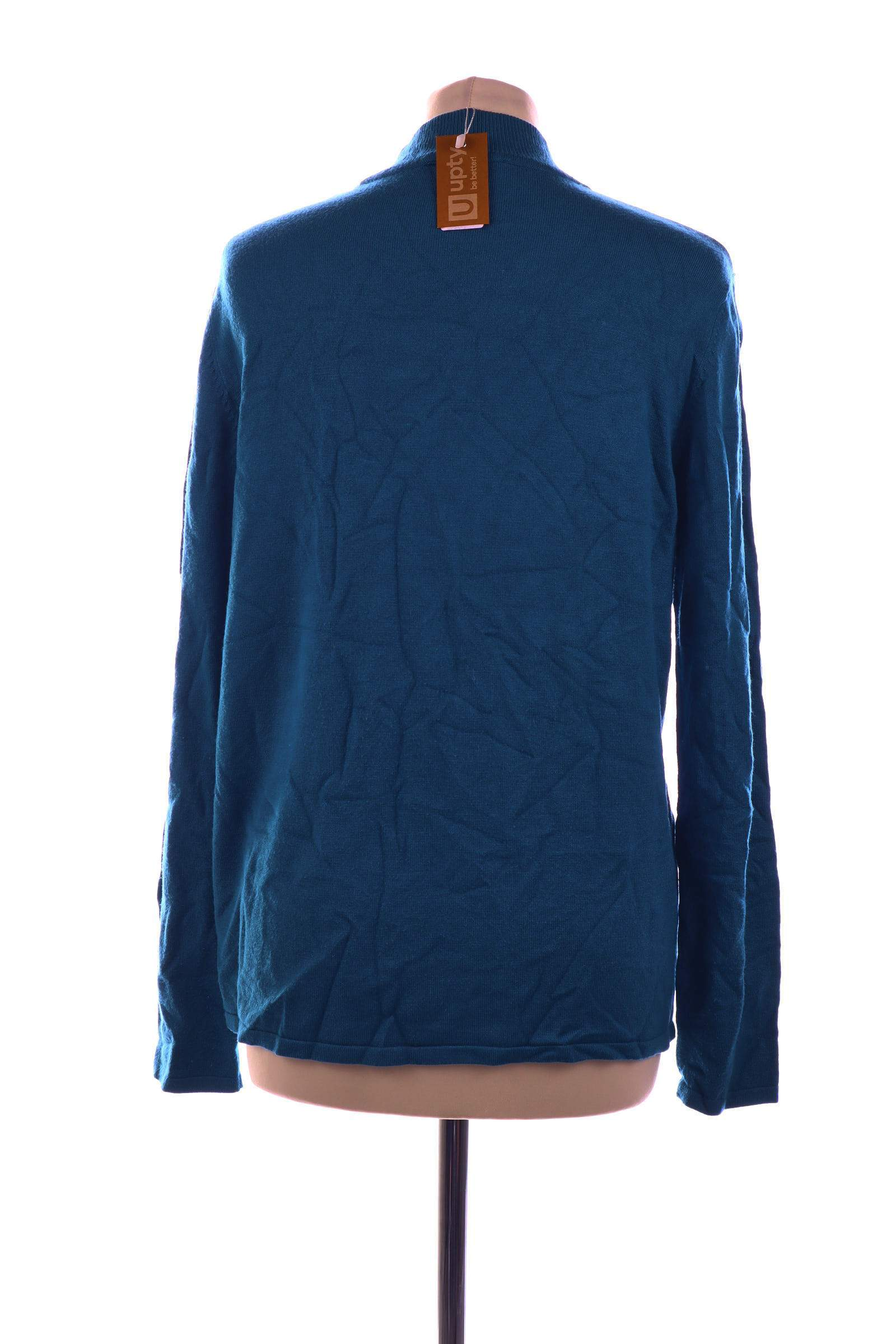 August Silk Blue Sweater - upty.store