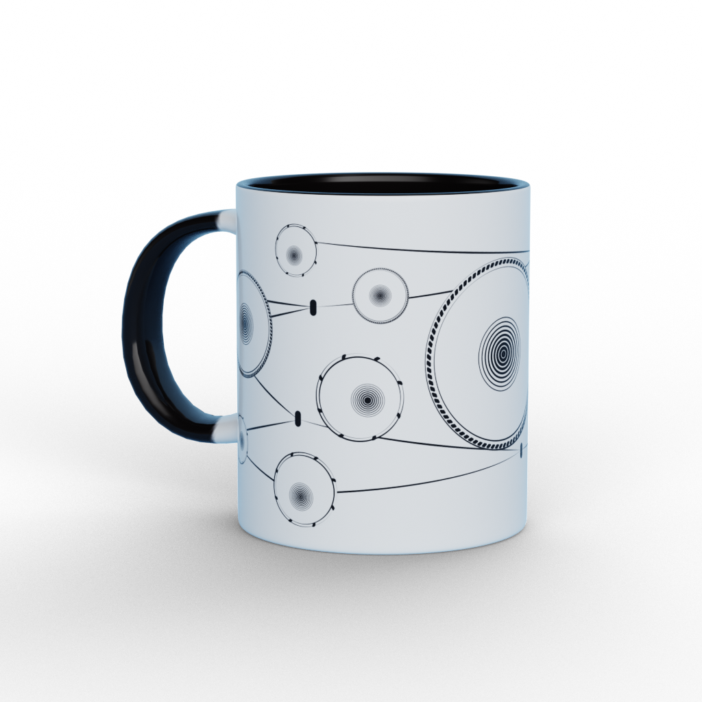 Abstract Tabla Black and White Ceramic Mug