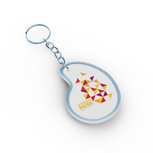 Abstract Triangle Multicolour Acrylic Keyring