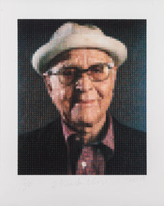 """Norman Lear Portrait"" by Chuck Close, limited edition, signed print"