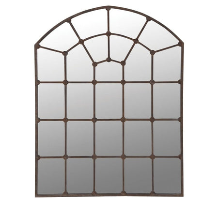Large iron framed mirror