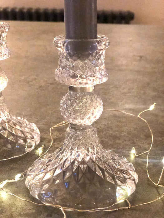 Glass Candlestick - Clear