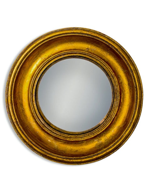 Antiqued Gold Framed Convex Mirror - available in 3 sizes