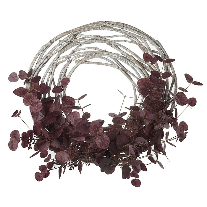 Dark Red & Twig Wreath