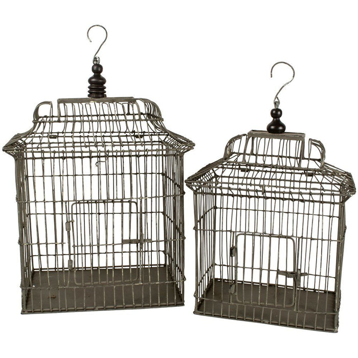 Set of 2 Wire Birdcages